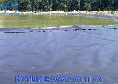 Màng chống thấm HDPE GSE ứng dụng vào trong nông nghiệp như hồ nuôi tôm, hệ thông kênh mương...