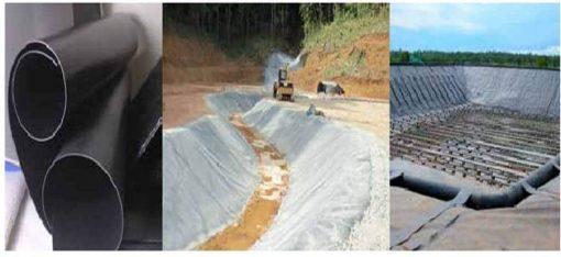 Màng HDPE Solmax ứng dụng